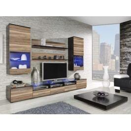 CAMA II, obývací stěna, wenge/ořech baltimore