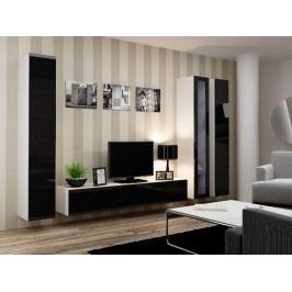 CAMA *Obývací stěna VIGO 2 A, bílá/černý lesk