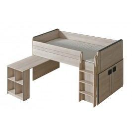 Dolmar GIMMI, patrová postel se stolkem G15, dub santana + barva: ...