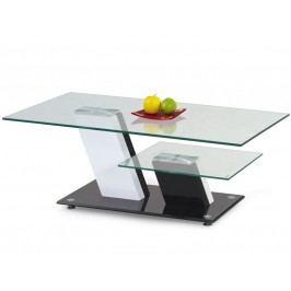 Konferenční stolek SAVANA,bílá/černá