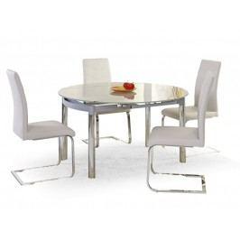 Jídelní stůl rozkládací NESTOR, kov/sklo
