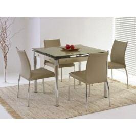 Jídelní stůl rozkládací ELTON, kov/sklo