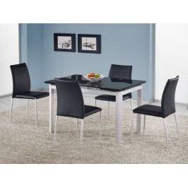 Jídelní stůl rozkládací ALSTON, černá/bílá