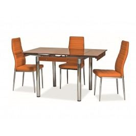 Jídelní rozkládací stůl GD-082, oranžový