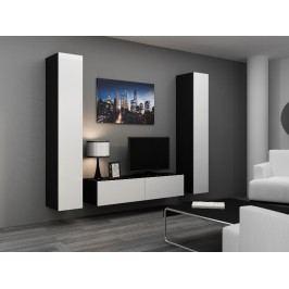 CAMA *Obývací stěna VIGO 9, černá/bílý lesk