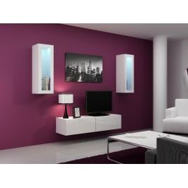 CAMA *Obývací stěna VIGO 8, bílá/bílý lesk