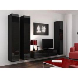 CAMA *Obývací stěna VIGO 14, černá/černý lesk
