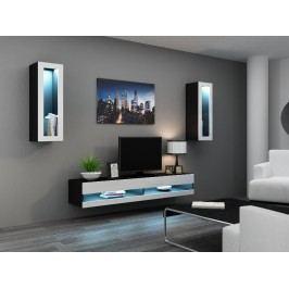 CAMA *Obývací stěna VIGO NEW 11, černá/bílý lesk