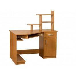 MORAVIA FLAT Praktický PC stůl CARMEN MAX, pravý, barva: