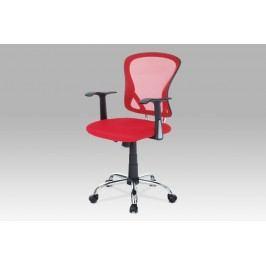 Autronic Kancelářská židle KA-N806 RED, mesh červená