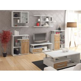 Obývací pokoj ANGEL 1, craft bílý/craft zlatý
