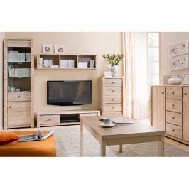 Black Red White Obývací pokoj SENEGAL - standard, dub sonoma
