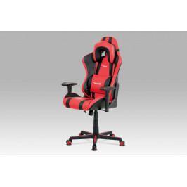 Kancelářská židle KA-V609 RED, červená/černá