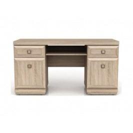 Black Red White PC stůl se zásuvkami a skříňkami OREGON, BIU2D2S, dub sonoma
