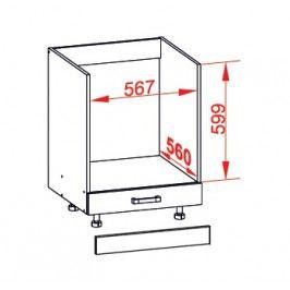 EDAN dolní skříňka DP60, korpus wenge, dvířka béžová písková