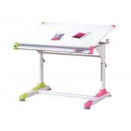 Idea Dětský psací stůl 2 Colorido bílá/zelená/růžová