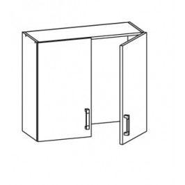 EDAN horní skříňka GC80/72, korpus wenge, dvířka béžová písková