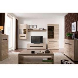 Obývací pokoj ELPASSO, dub san remo světlý/dub wenge hnědý
