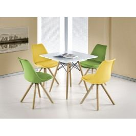 Smartshop Jídelní stůl PROMETHEUS čtverec, bílá/buk