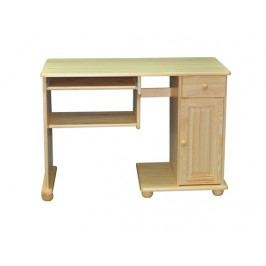 MAGNAT Dřevěný PC stůl ROBERTO, masiv borovice, moření: ...