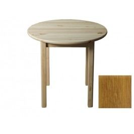Stůl  průměr 50 cm nr.3, masiv borovice/moření dub