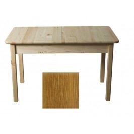 Stůl 120/170 x 80 cm nr.8, masiv borovice/moření dub