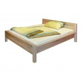 AGUSTYN, postel LOZ/180 bez roštu, dub sonoma