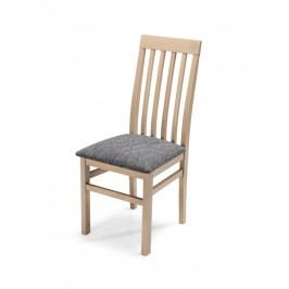 Čalouněná jídelní židle QUEEN PLUS, dub