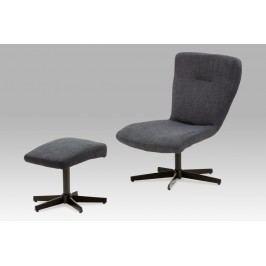 Relaxační křeslo, tmavě šedá látka / černý lak, TV-8834 BK2
