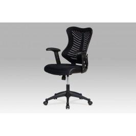 Kancelářská židle, látka mesh+koženka černá, KA-J806 BK