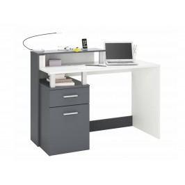 DEMEYERE ORAKLE, psací stůl šíře 120 cm, bílá/grafit