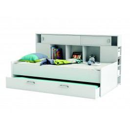 SCHERWOOD, postel 90x200 cm s přistýlkou, bílá