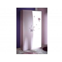 FEI, skříň 2D se zrcadlem, fialková