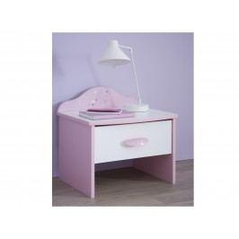 DEMEYERE PAPILON, noční stolek, bílá/růžová