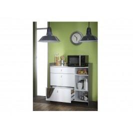 DEMEYERE BATERY, kuchyňská skříňka 3S, bílá/čedič