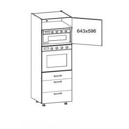 TAFNE vysoká skříň DPS60/207 SMARTBOX pravá, korpus šedá grenola, dvířka bílý lesk