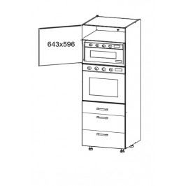 PESEN 2 vysoká skříň DPS60/207 SMARTBOX, korpus šedá grenola, dvířka dub sonoma hnědý