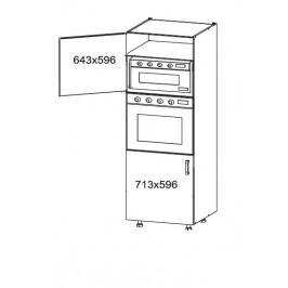 DOMIN vysoká skříň DPS60/207, korpus šedá grenola, dvířka bílá canadian