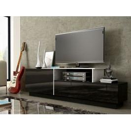CAMA Televizní stolek RTV SIGMA 3C, bílá/černá
