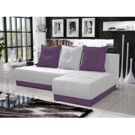 Rohová sedačka INSIGNIA 13, krémová/fialová