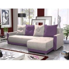 Rohová sedačka INSIGNIA BIS 13, krémová/fialová