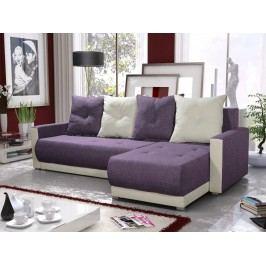 Smartshop Rohová sedačka INSIGNIA BIS 14, fialová/krémová
