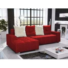 Rohová sedačka TELO 4 levá, červená/krémová