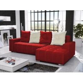 Rohová sedačka TELO 4 pravá, červená/krémová