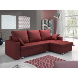 Smartshop Rohová sedačka VALERIO 3 pravá, červená