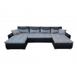 Rohová sedačka JOGI U, šedá/černá