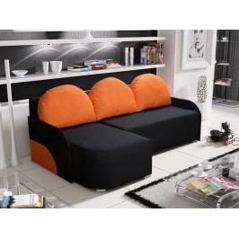 Rohová sedačka KRIS 6 levá, černá/oranžová