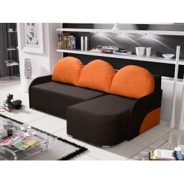 Smartshop Rohová sedačka KRIS 2 pravá, hnědá/oranžová