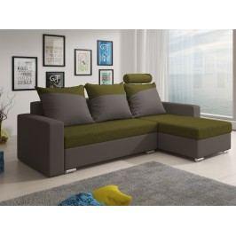 Smartshop Rohová sedačka MONDEO 3, zelená/šedá