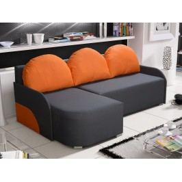Rohová sedačka KRIS 4 levá, šedá/oranžová